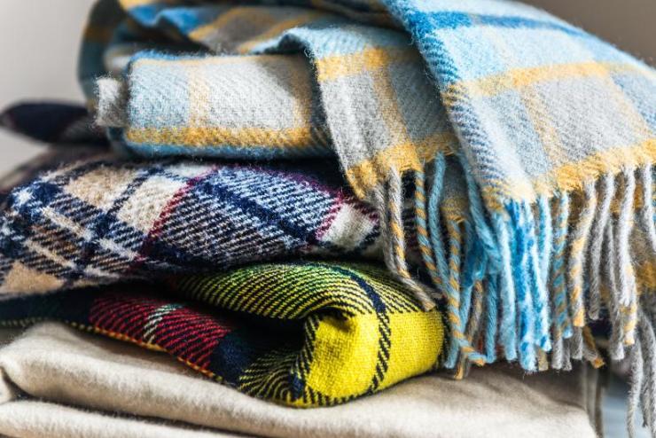 Stack of Wool Blankets | Car Emergency Kit