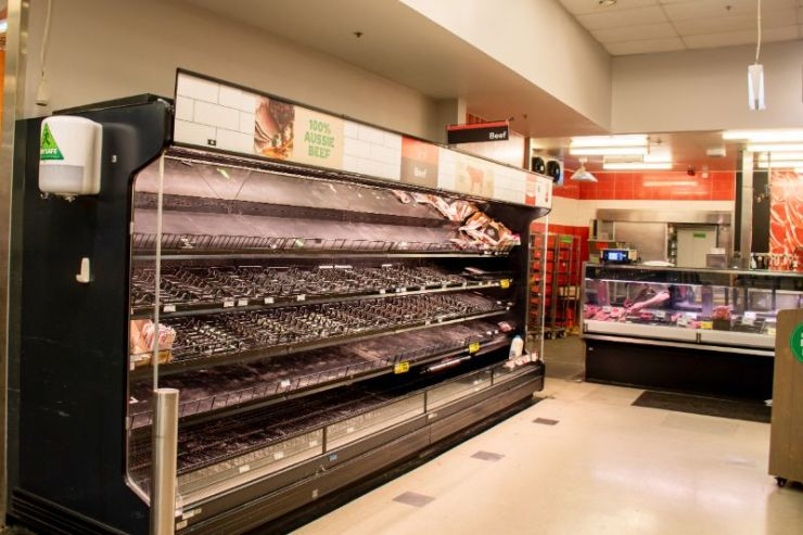 Empty meat aisle | Beef shortage