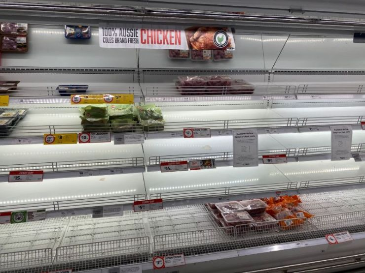 Empty poultry aisle | Beef shortage