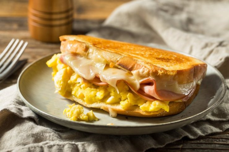 Ham Egg and Cheese Sandwich for Breakfast-camping recipes