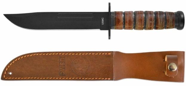 USMC Kampfmesser mit Lederscheide