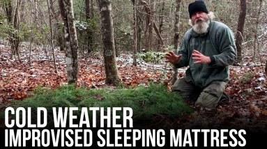 Cold Weather Improvised Sleeping Mattress