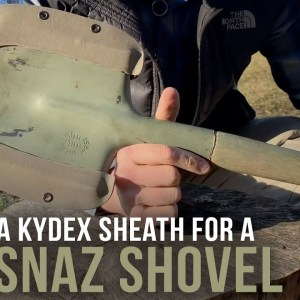 Building a Kydex Sheath for a Spetsnaz Shovel