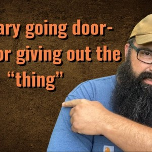 """Military going door to door giving out the """"thing"""""""