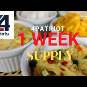 4Patriots One Week Survival Food Kit Review // Is it worth it? Kids try
