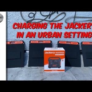 Charging The Jackery In An Urban Setting
