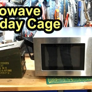 How to make a Faraday Cage out of a Microwave #EMP