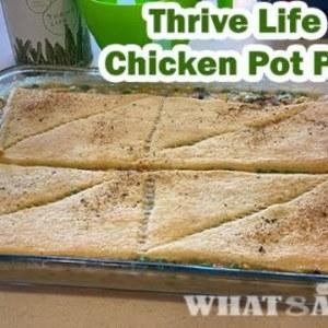 Thrive Life Chicken Pot Pie Dinner- freeze dried food ingredients Recipe
