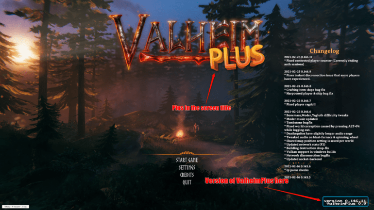 Valheim+ Main Menu Screen.png
