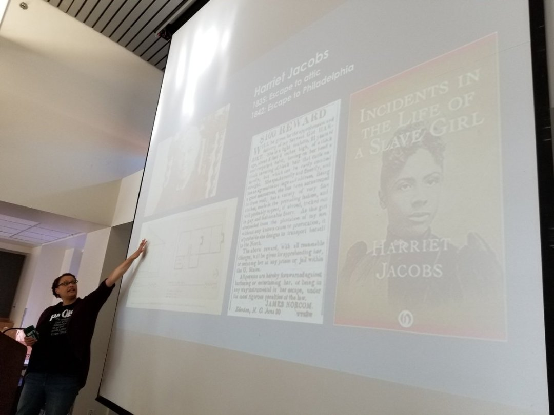 Recounting Harriet Jacobs' escape from slavery.
