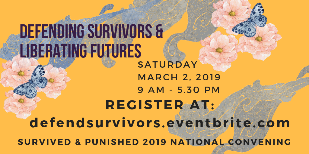Mar 2, NYC: Survived & Punished 2nd National Convening