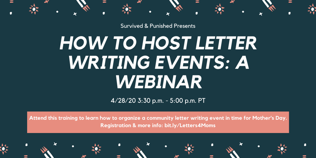 April 28, Zoom: How to Host a Letter Writing Event: A Webinar
