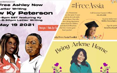 Action Items: #FreeArlene, #FreeAshley, #FreeAssia