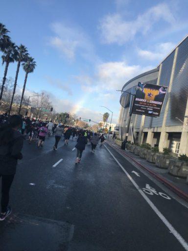rainbows, downtown san jose, 408k, SAP, start line