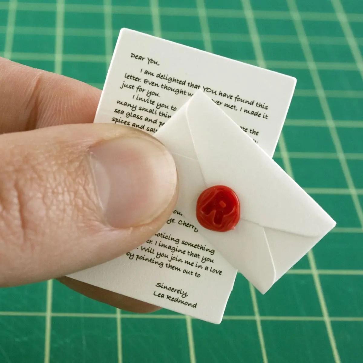 Tiny letter - leaf cutter designs