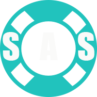 SAS Logo White Letters