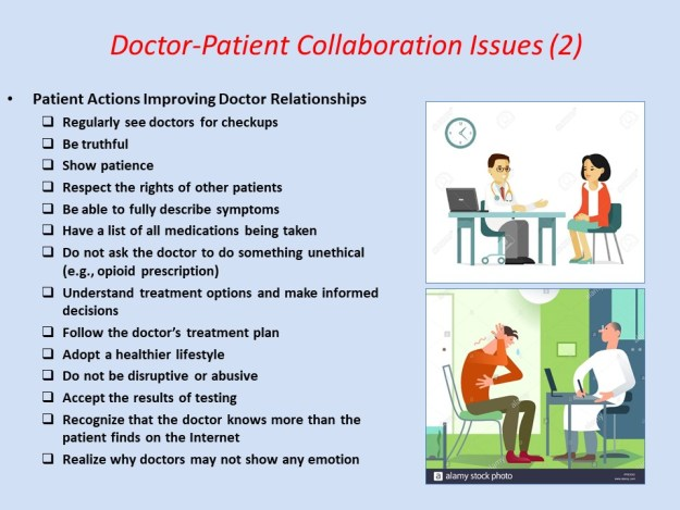 Patient Actions Improving Doctor Relationships