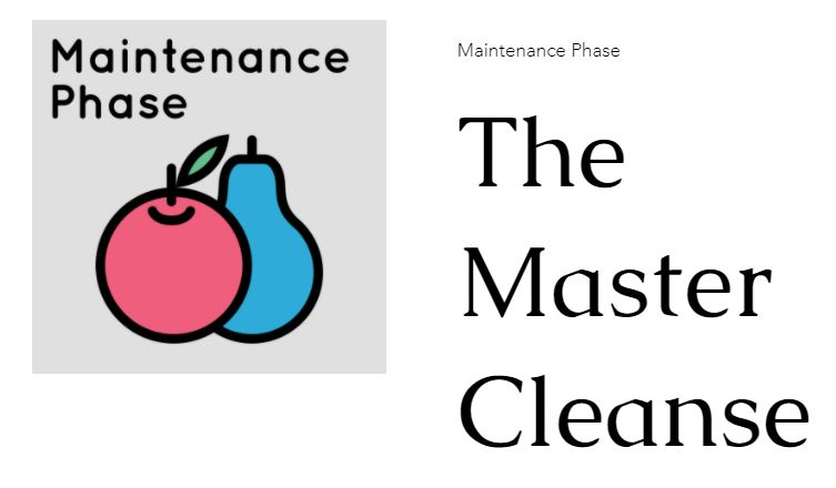 The Maintenance Phase of Good Health
