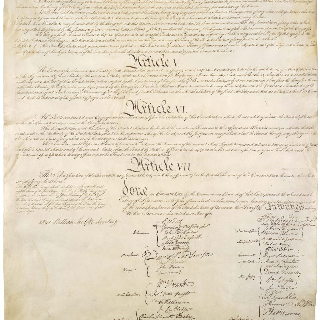 Signatures And Signers Of The United States Constitution
