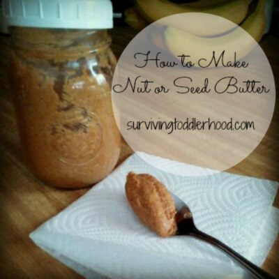 How to Make Nut or Seed Butter