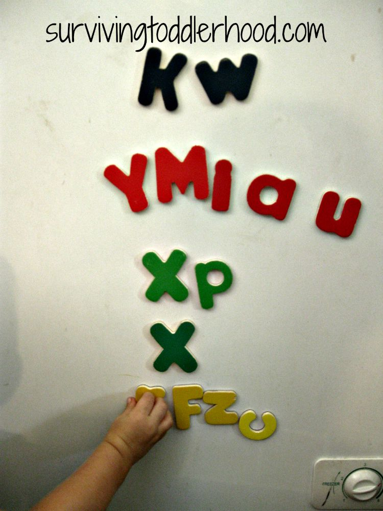 Letter Games with Mellisa and Doug Magnetic letters