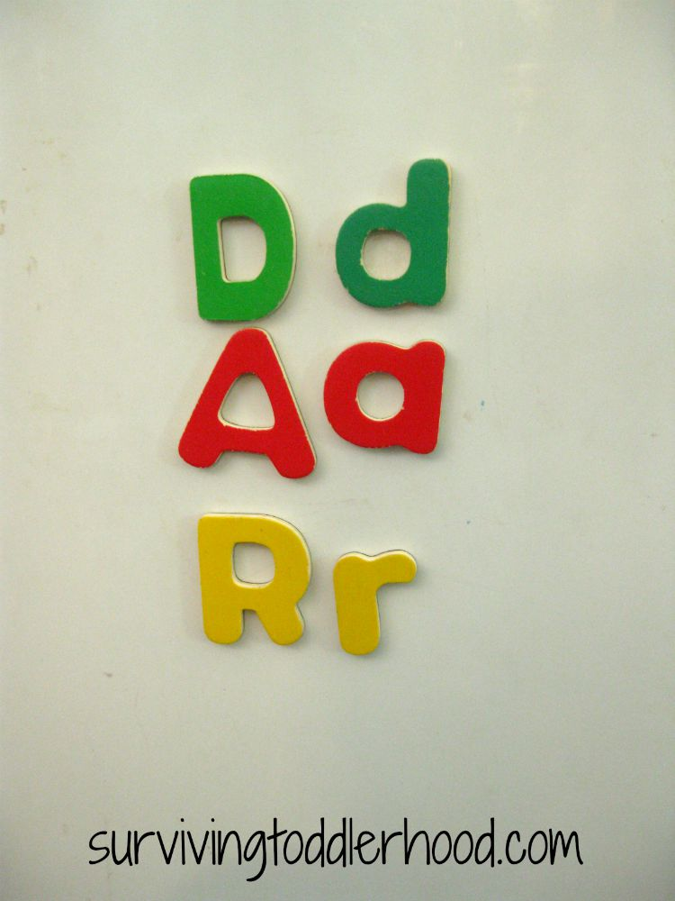 Matching Letters with Melissa and Doug Magnetic Letters