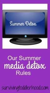 summer media detox rules