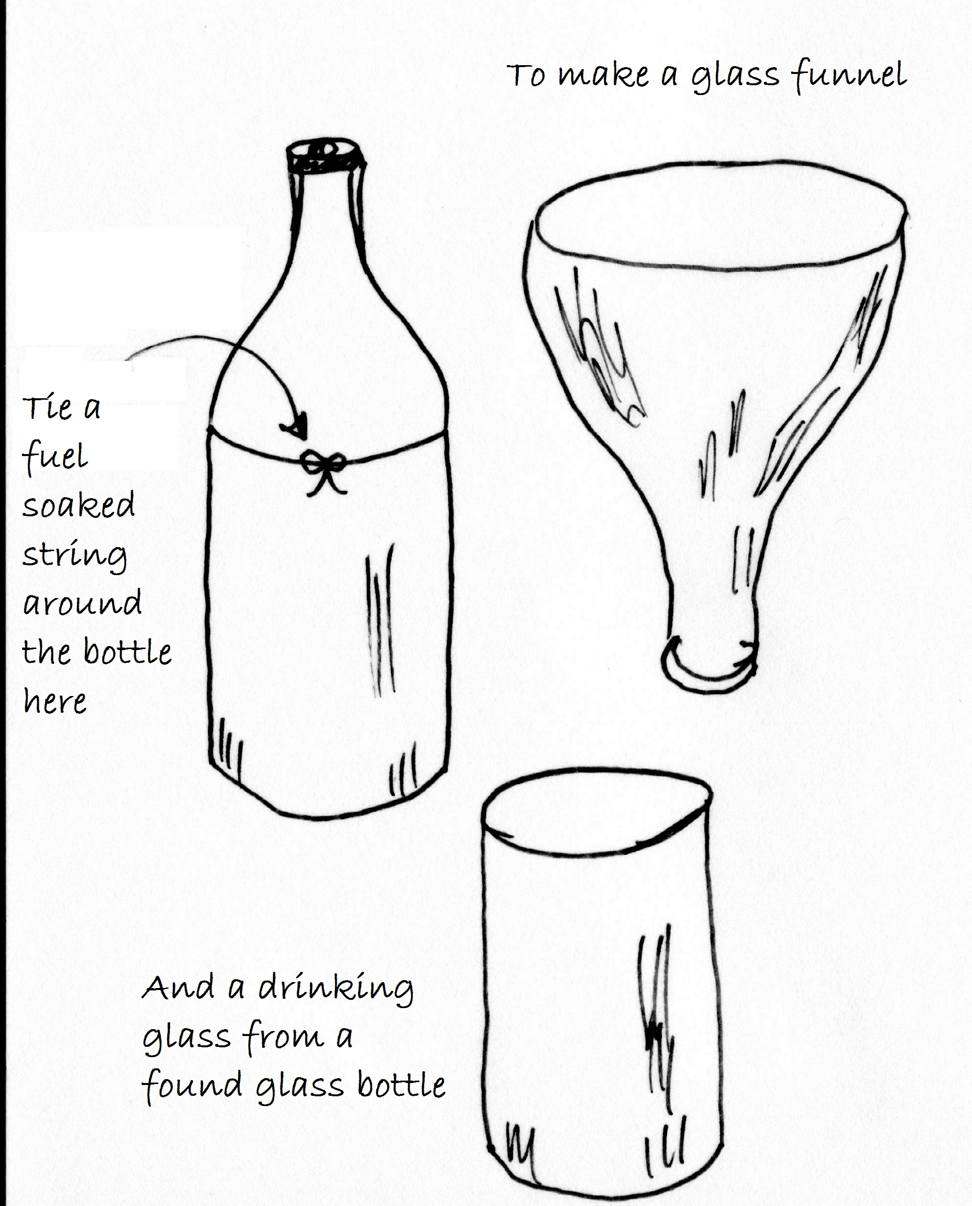 Making A Funnel And A Drinking Glass From A Beer Bottle