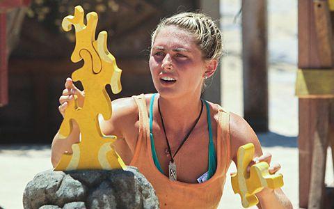 Kat Edorsson at Redemption Island on Survivor 2013
