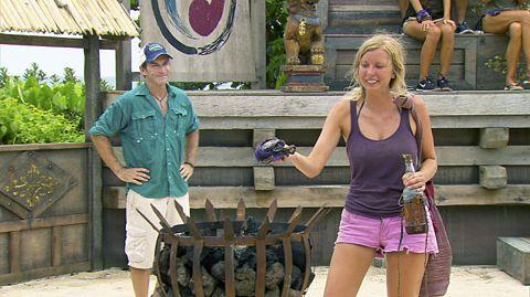 Katie eliminated on Survivor 2013