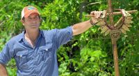 Jeff Probst protects the Survivor Immunity necklace