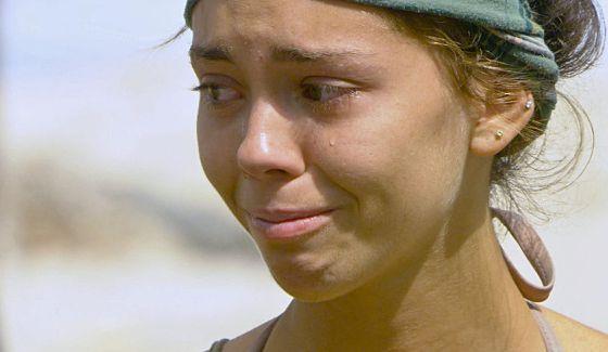 Baylor Payne cries on Survivor 2014