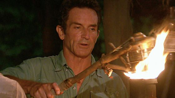 Jeff Probst at Survivor Tribal Council