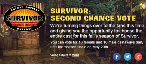 Survivor 2015 Second Chance cast vote