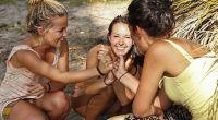 Survivor castaways Julia, Michele, and Anna