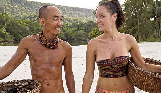 Tai and Anna on Gondol in Survivor Kaoh Rong