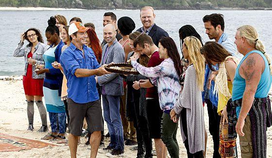 Survivor 2016 castaways and Jeff Probst