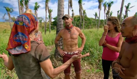 Debbie lectures Mana tribe on Survivor 2017