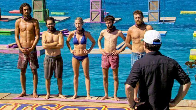 Castaways on Survivor 2017 finale with Jeff Probst