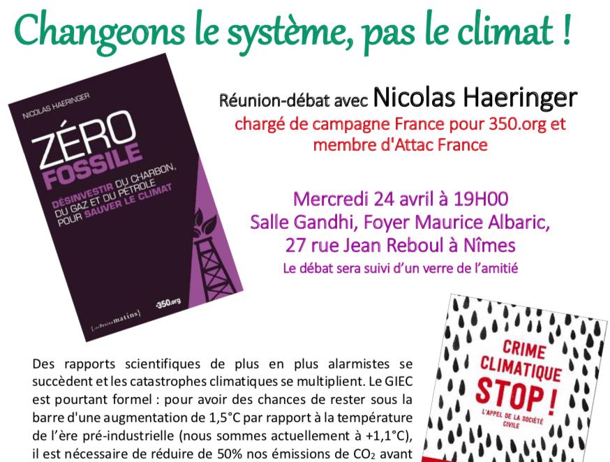 Changeons le système, pas le climat !