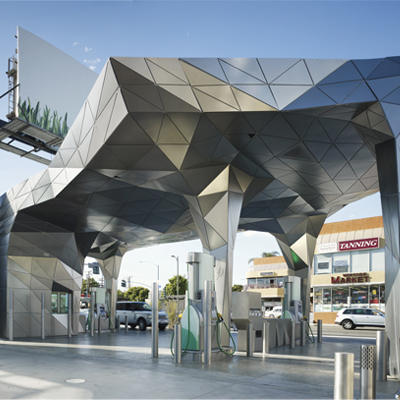 Helios House Gas Station - Los Angeles, California.