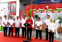 Presiden Jokowi meresmikan implementasi B30 di SPBU Pertamina, Jl Jalan MT Haryono, Jakarta Selatan, Senin (23/12/2019). (Foto: Humas Setneg)