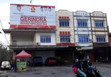 Kantor DPD Partai Gerindra Kepri di Tanjungpinang (Suryakepri.com/ Muhammad Bunga Ashab)