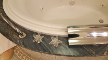 Oooh... all the faucets had these glass starfishes as knobs.