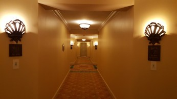 Hallway outside the suite