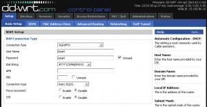 WRT160NL + Haier CE100 mengisi APN