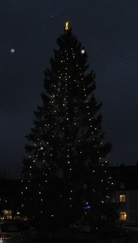 Julgranen på torget