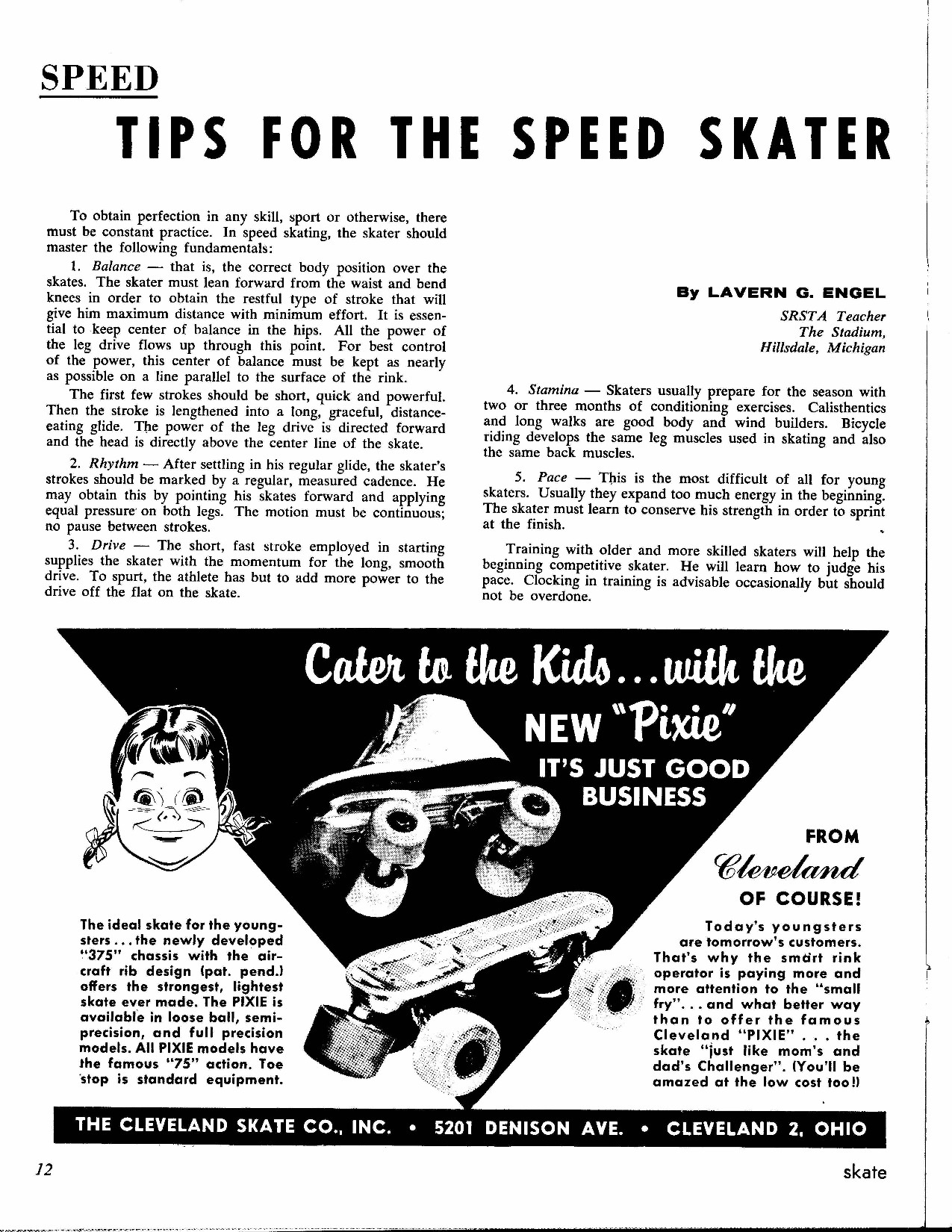 ray and skate diagram 98 ford windstar fuse classic art skating magazine 1961