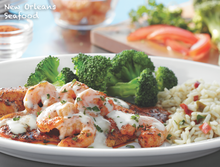 Image of New Orleans seafood, a healthy choice dish at Ruby Tuesday.