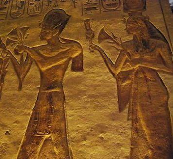 Ramsés II y Nefertari